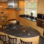 Kitchen in Blue Brass Granite