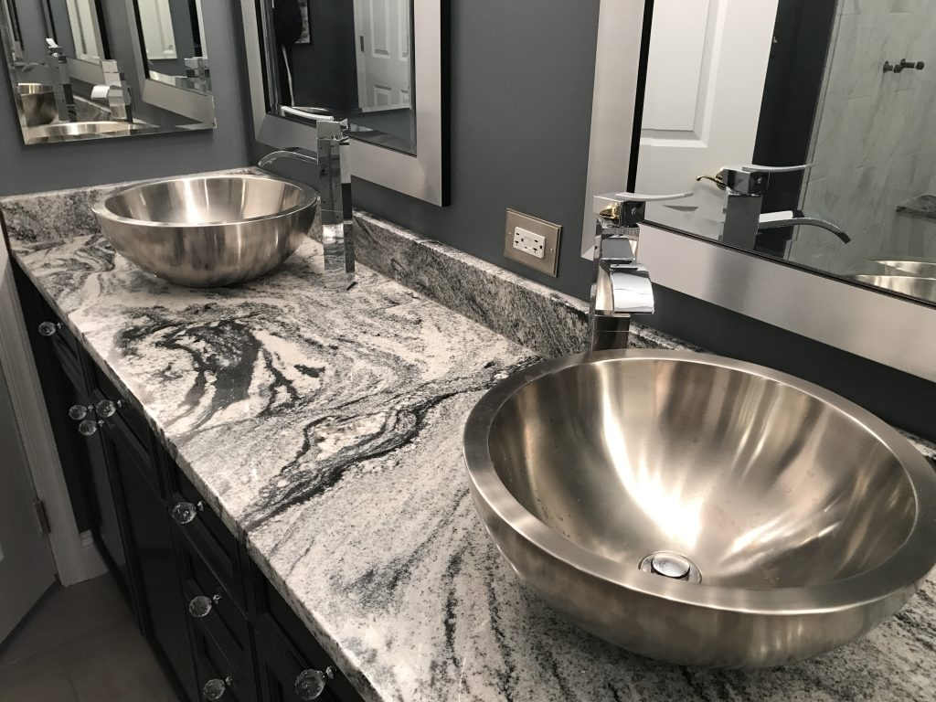 Viscont White Granite Vanity Top Oz Enterprises Llc