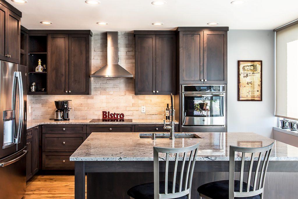 Contemporary Style Kitchen Granite Countertops