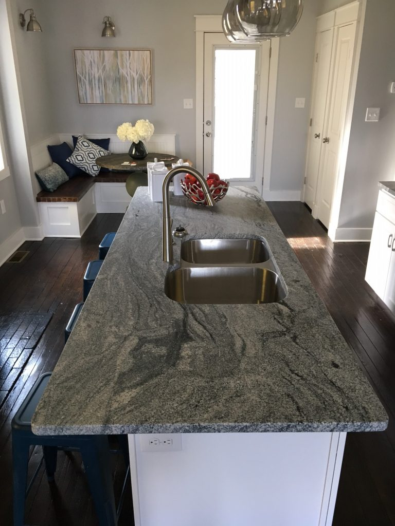 Viscont White Granite Kitchen Countertops Leather Finish