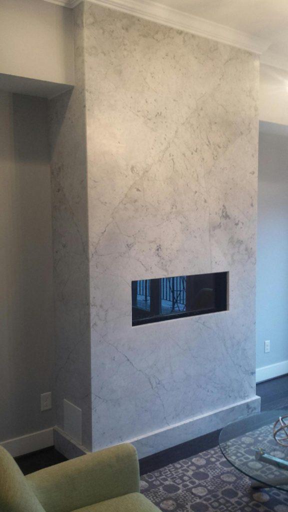 Fireplace In White Carrera Marble Oz Enterprises Llc