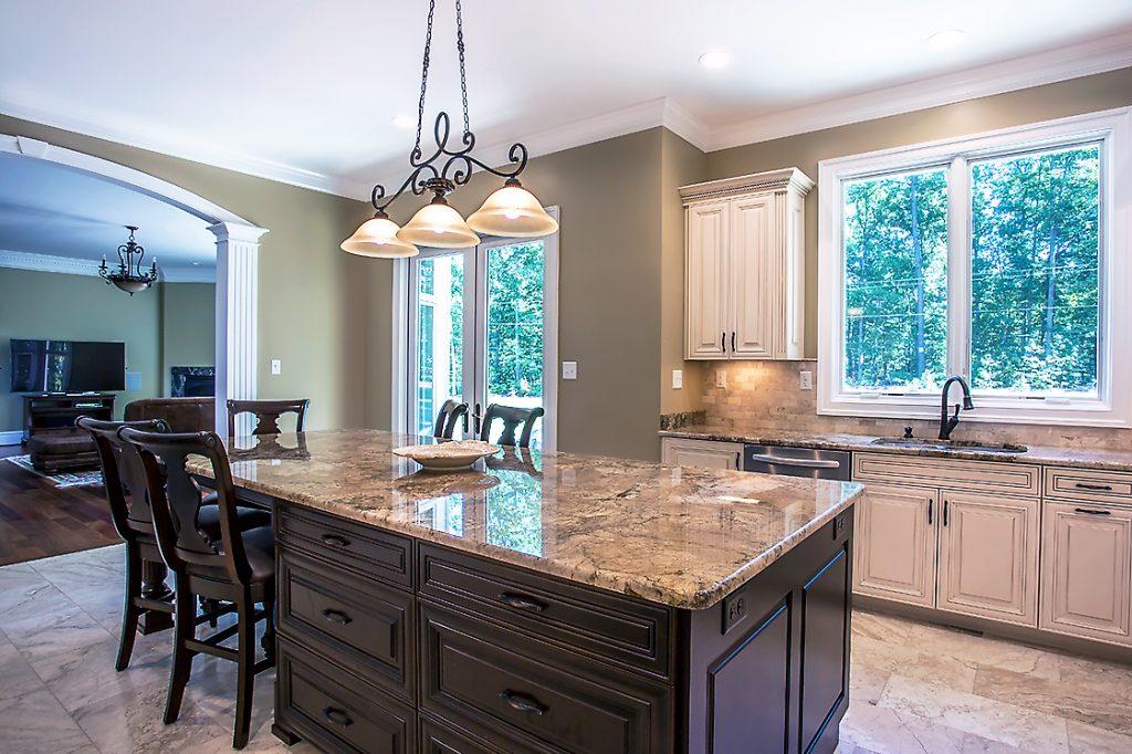Kitchen Island In Beautiful Granite Countertop Oz