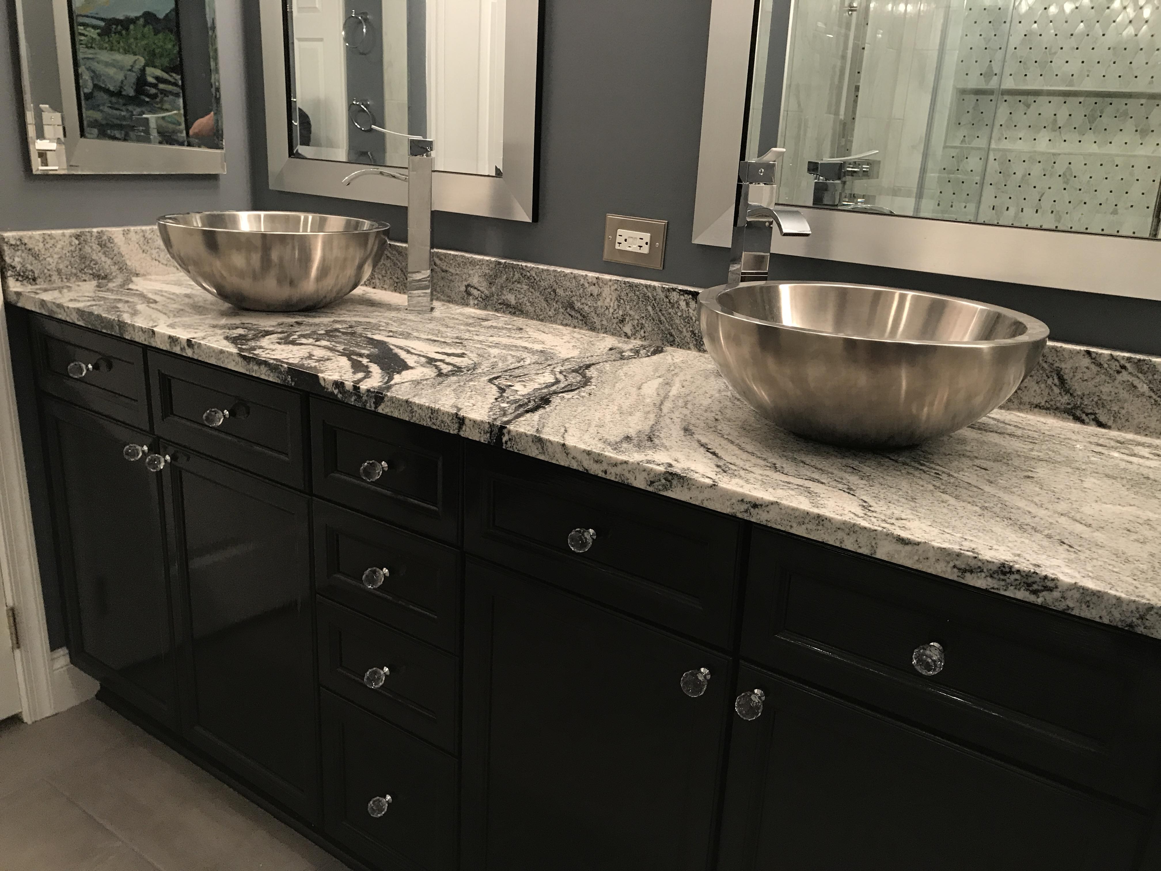 Viscon White Granite Vanity Top Oz Enterprises Llc