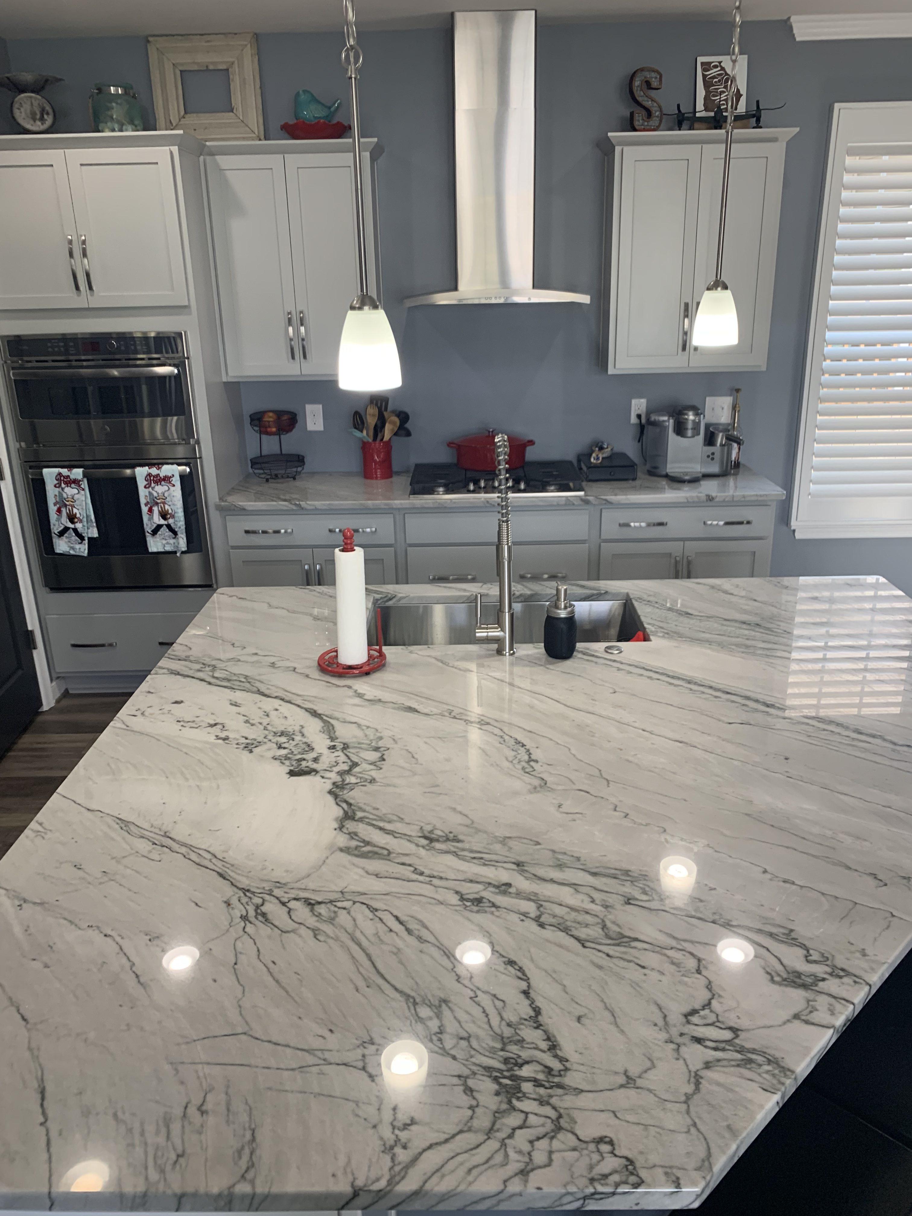 White And Grey Quartzite Countertops Oz Enterprises Llc